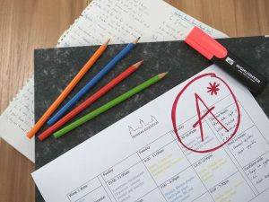 A level revision timetable