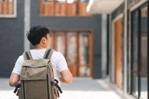 Student walking in University Campus